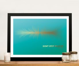 Buy Don't Stop Believing Soundwave Canvas Wall Art
