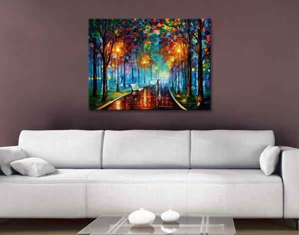 Buy Misty Mood Leonid Afremov Canvas Art