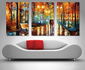 Buy Rain's Rustle Leonid Afremov 3-Panel Artwork
