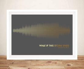 Buy What if This Storm Ends Soundwave Canvas Artwork