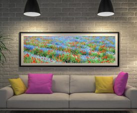 Buy a Lavender & Poppy Framed Panoramic Print