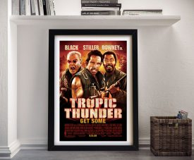Buy Tropic Thunder Film Poster Canvas Wall Art