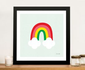 Buy Bright Rainbow Kids Wall Art by Ann Kelle