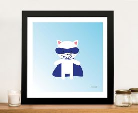 Buy a Framed Canvas Print of Cat Super Hero