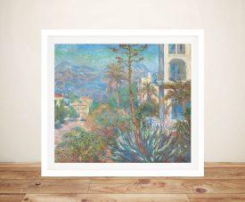 Buy a Villas at Bordighera Framed Canvas Print