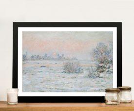 Buy Winter Sun Framed Canvas Wall Art by Monet