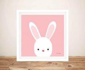 Buy Cuddly Bunny Cute Kids Framed Wall Art