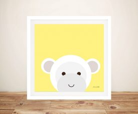 Buy a Cute Framed Canvas Print of Cuddly Monkey