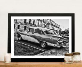 Buy a Black and White Framed Print of Havana Classics
