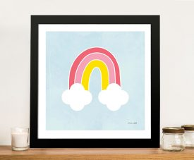 Buy His Rainbow Framed Kids Canvas Wall Art