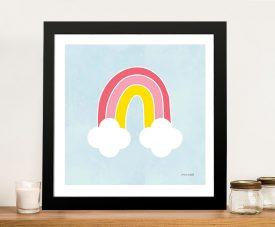 Buy His Rainbow Framed Kids Canvas Wall Art