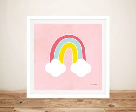 Buy Her Rainbow Framed Kids Canvas Wall Art