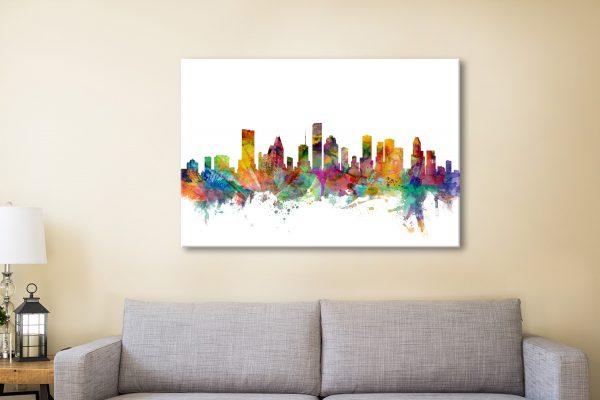 Buy Houston Skyline Wall Art Amazing Gifts AU