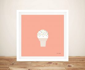 Buy a Sweet Framed Print of Ice Cream Cone l