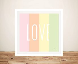 Buy Love Rainbow Pretty Framed Canvas Wall Art