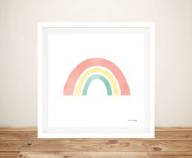 Buy a Pastel Rainbow l Framed Canvas Print