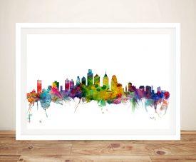 Buy Michael Tompsett Philadelphia Skyline Framed Art