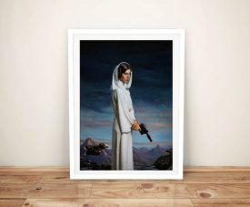 Buy Intergalactic Beauty Princess Leia Framed Art