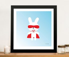 Buy a Framed Canvas Print of Rabbit Super Hero