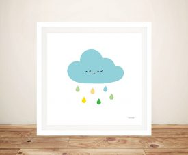 Buy Sleepy Cloud l Framed Kids Canvas Art