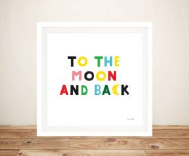 Buy To the Moon and Back Adorable Nursery Art
