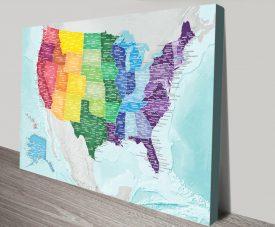 USA-Custom-Colour-Map-canvas-Art