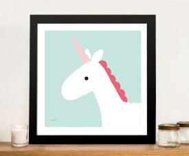 Buy a Unicorn Framed Nursery Canvas Print