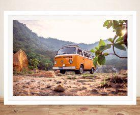 Buy VW Van Adventures Charming Framed Wall Art