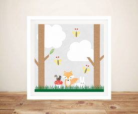 Buy Woodland Animals ll Cute Framed Kids Art