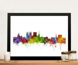 Buy a Michael Tompsett Skyline Canvas Print of York
