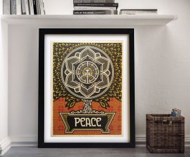 Buy a Shepard Fairey Peace Tree Framed Print