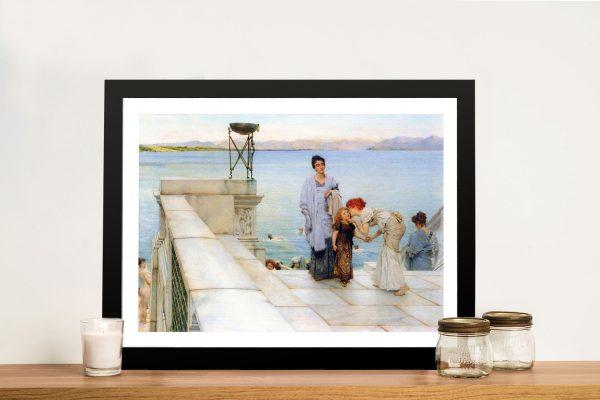 Buy A Kiss an Alma-Tadema Canvas Art Print