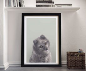 Buy Adorable Arctic Fox Framed Kids Wall Art