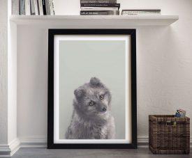 Buy Adorable Arctic Fox Framed Kids Wall Art