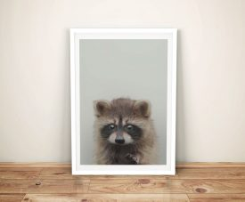 Buy Baby Raccoon Ready to Hang Nursery Wall Art