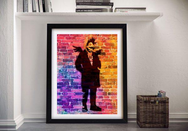 Buy a Banksy Punk Angel Dayglo Framed Print