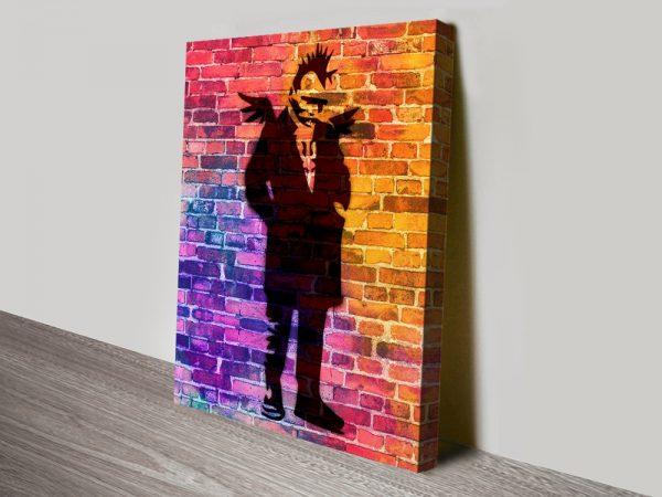 Buy Punk Angel Dayglo Framed Banksy Art Cheap Online