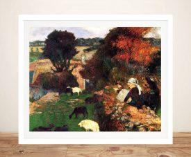 Buy Breton Shepherds Classic Wall Art by Gauguin