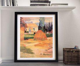 Buy a Framed Canvas Print of Farmhouses in Arles