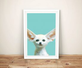 Baby Fennec Fox Ready to Hang Kids Wall Art