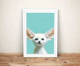 Baby Fennec Fox Ready to Hang Kids Wall Art