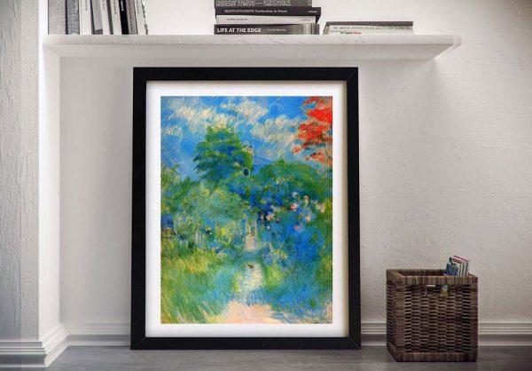 Buy Gardenpath in Mezy Framed Canvas Wall Art