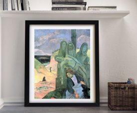 Buy The Green Christ Framed Symbolic Gauguin Art
