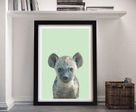 Buy a Cute Hyena Cub Ready to Hang Print