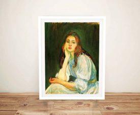Buy a Print of Julie Dreaming by Berthe Morisot