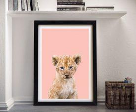 Buy an Adorable Lion Cub Framed Canvas Print