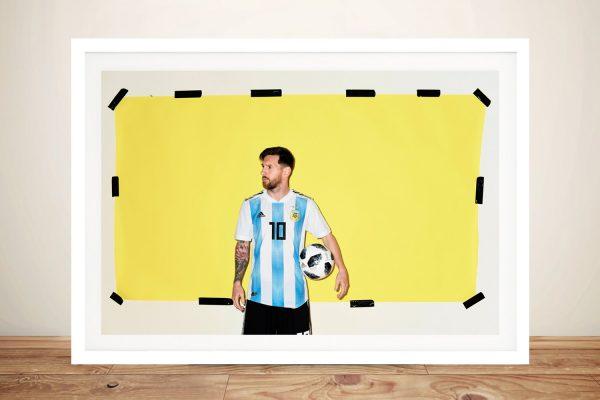 Buy a Framed Canvas Lionel Messi Pop Art Print