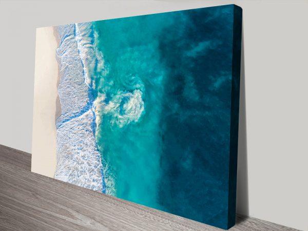 Riptide surf canvas print