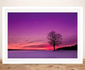 Buy Dusk Hues Scenic Landscape Canvas Art