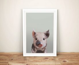 Buy a Pretty Piglet Portrait Framed Print